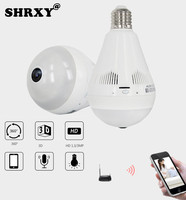 NEW HD FishEye IP Camera 960P 360 Degree Bulb Light Full View Mini CCTV Camera 1