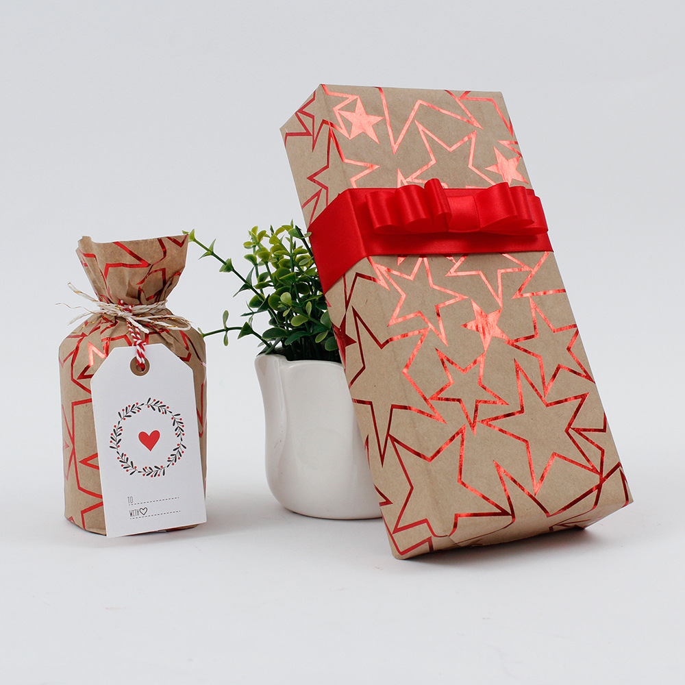Wedding Gift Paper: 50 X 70cm Gift Colorful Stars Wrapping Paper Roll For
