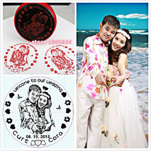 5CM Round Photosensitive Seal Decorative Lovers Souvenir Photo Stamp Personalized Custom Wedding Gift Stamp For Invitation