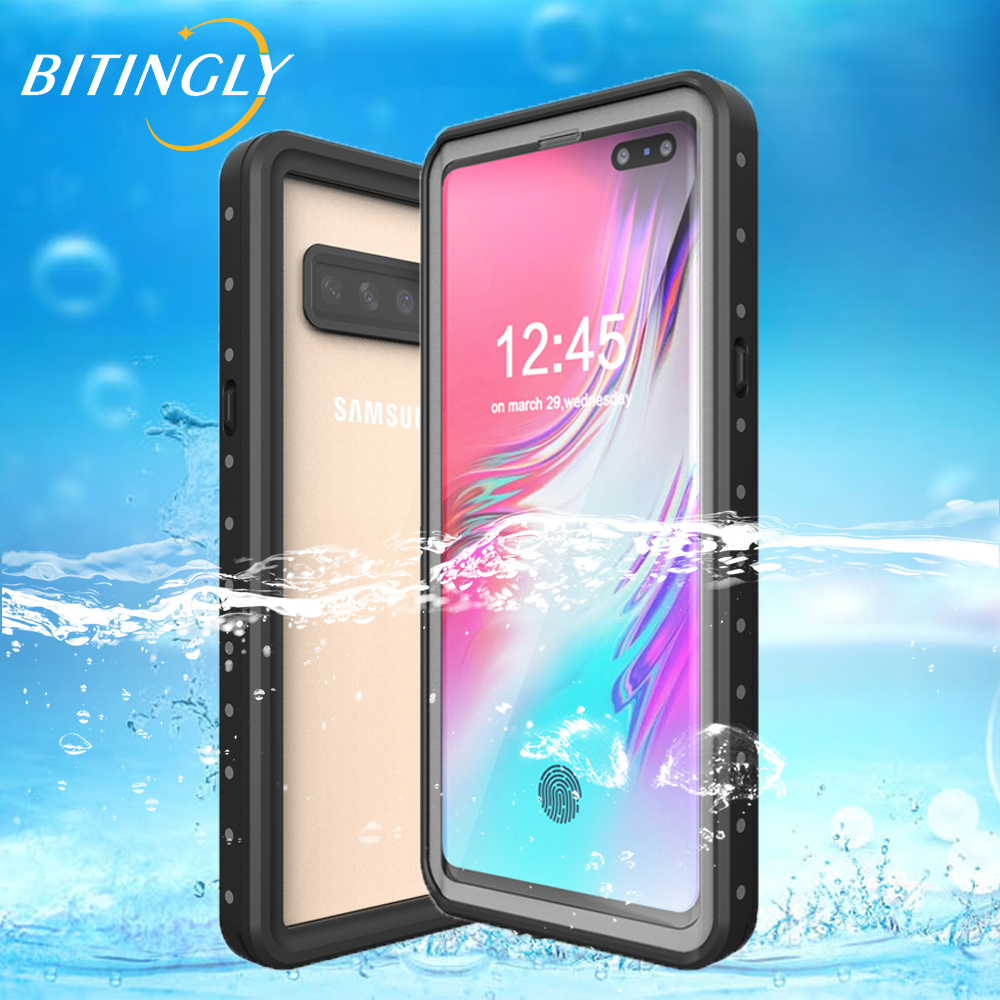 Bitingly Waterproof Case For SAMSUNG S10 5G S10 Plus Underwater Swimming Coque Front Protector Cover For Samsung Galaxy S10 5G in Flip Cases from Cellphones Telecommunications