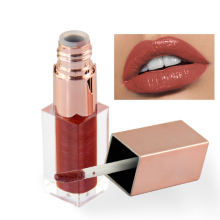 TEAYASON 1PCS 6 colors lip gloss rose gold square Liquid Lipstick Sexy Red Batom Tint Makeup Long Lasting Waterproof Lipgloss