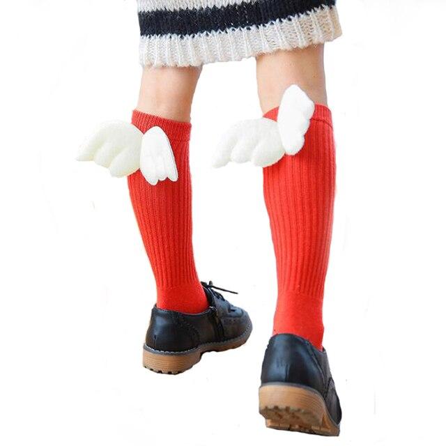 LOS NIÑOS Calcetines de algodón del cabrito 100% alas coser ...