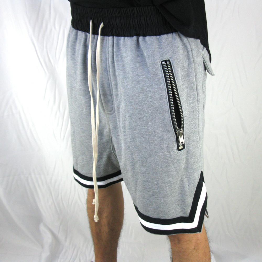 High Street 2019 Summer Sporting Shorts Men's Casual Joggers Male Fashion Large Zip Pocket Shorts Hip Hop Elastic Drawstring
