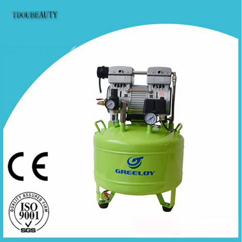 TDOUBEAUTY Dental Silent Oil Free Oilless Air Compressor 40L Tank 800w 155L/min GA-81 One By One for Dental Chair Free shipping tdoubeauty dental greeloy silent oil free air compressor ga 62 free shipping