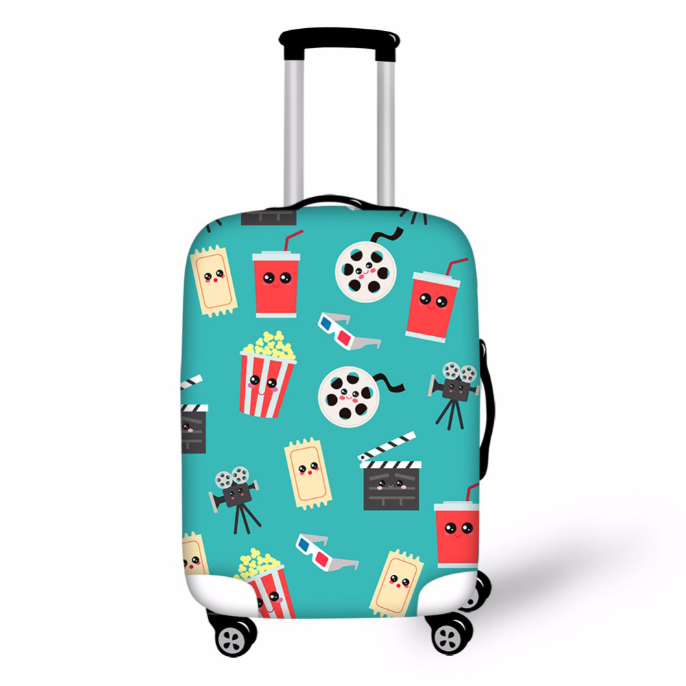 Movie Travel Thicken Elastic Color Luggage Suitcase Protective Cover Apply To 18-30 Inch Cases Travel Accessories