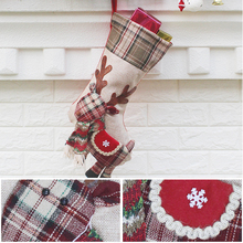 Home Cute Christmas Stocking Chrismas Decorations for Home Christmas Tree Ornaments Gift Holders Stockings(China)