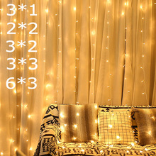 led strip fairy lights bedroom garden party curtain decoration 3x1/3x2/4x2/6x3m light
