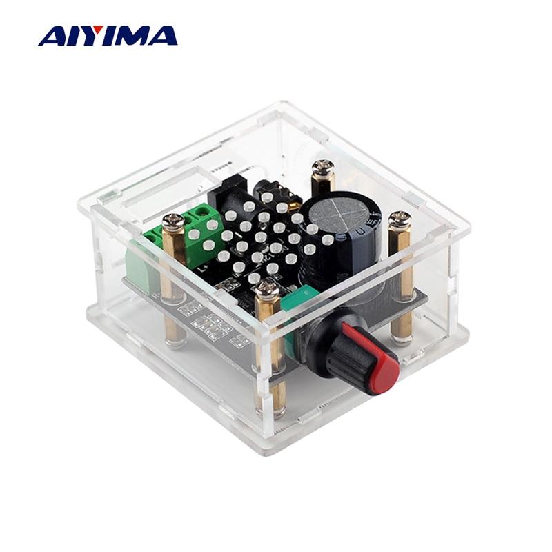 Aiyima Hi-Fi PAM8610 Audio Amplifier Board 15W*2 Class D Dual Channel Digital Amplifier Board DC12V feixiang fx1002a 2 x 160w 2 channel digital hi fi amplifier set silver black