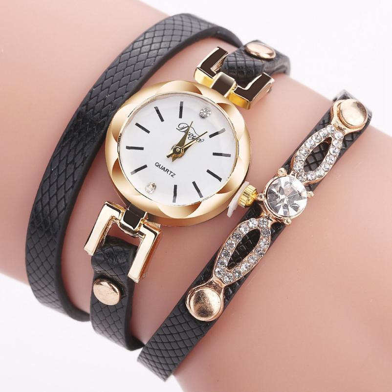 Duoya Relogio Fashion Women Fine Leather Band Women's Watch Winding Analog Quartz Movement Wrist Watch Casual Horloge 18Jan26 brand new japan smc genuine regulator arx20 02