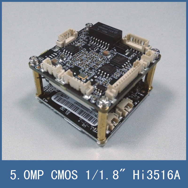 Newest 5 0mp Low Illumination Cmos Ip Camera Module Circuit Board   Dual Core 32bit Hi3516a 1  1