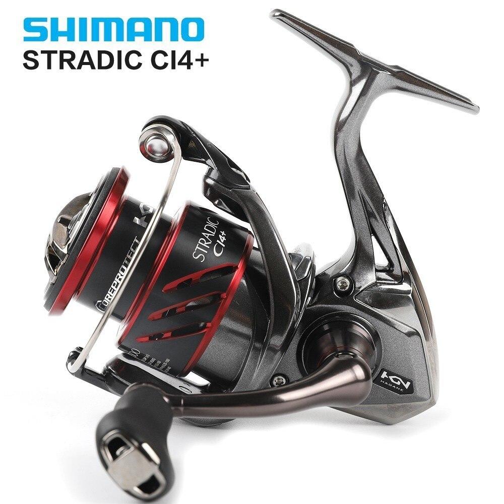 Original Shimano Stradic CI4 1000 1000HG 2500 2500HG C3000 C3000HG 4000 4000XG Spinning Fishing Reel 6