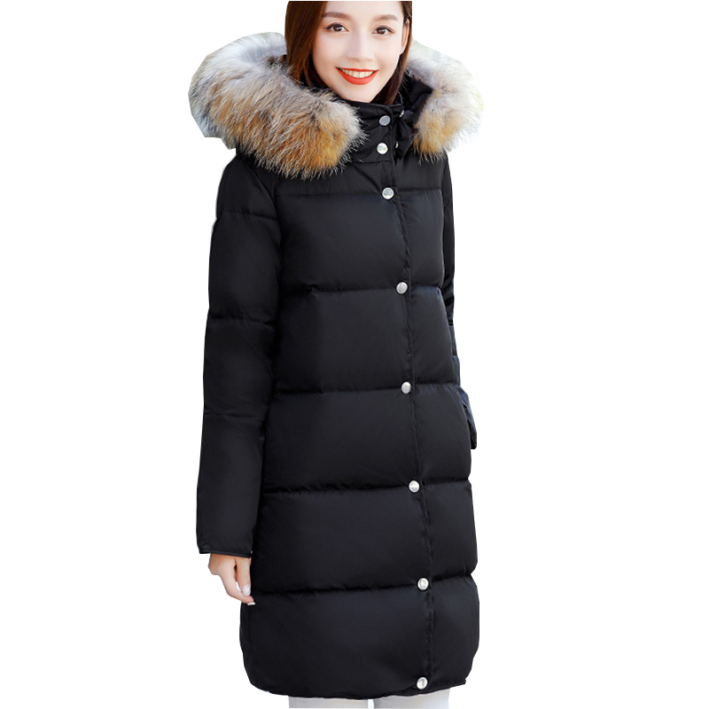 plus size s-5XL Coat Ultra warm Duck Down Jacket lovers Overcoat Slim long Jackets Winter Coats Parkas Padded Rabbit thick winter keep warm thicken women s cotton slim long coat hooded parka jackets coats white overcoat plus size down parkas clothes