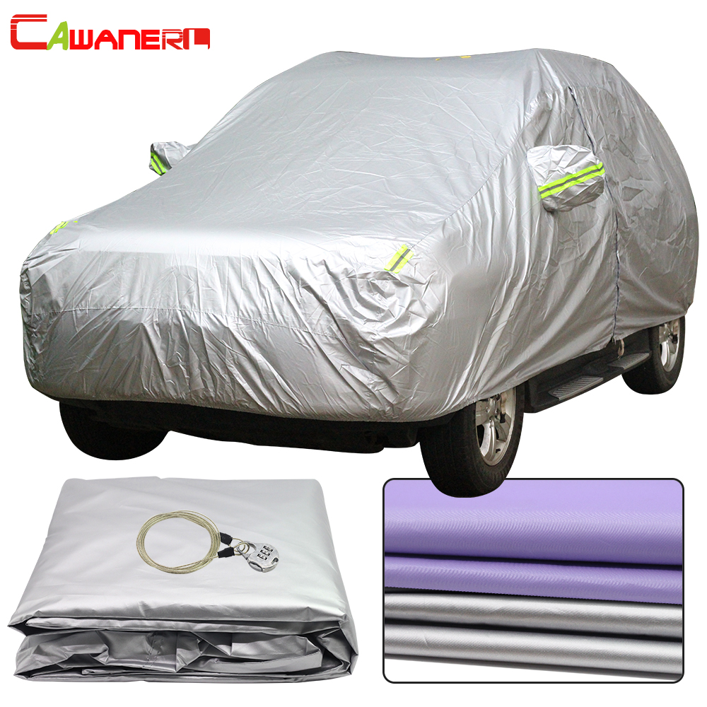 Cawanerl Full Car Cover Waterproof All Weather Sun Rain Snow Protection Anti UV Dust Proof Outdoor