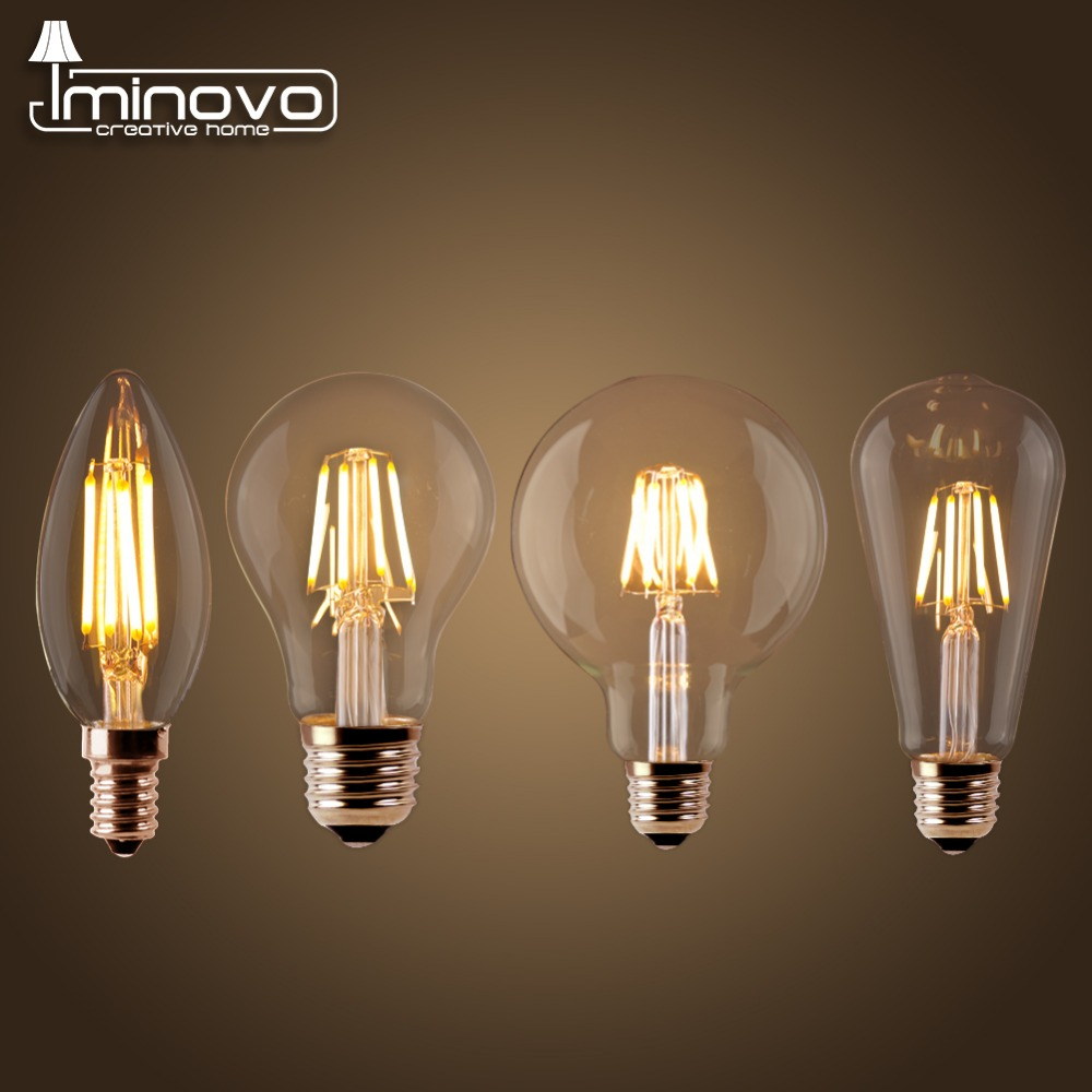 LED Filament Bulb E27 Retro Edison Lamp 220V E14 Vintage Candle Light Globe Chandelier Lighting COB Home Decor Energy Saving retro lamp st64 vintage led edison e27 led bulb lamp 110 v 220 v 4 w filament glass lamp