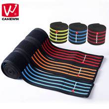 CAMEWIN Brand 2 PCS 200*8.5 CM Weight Lifting Knee Protector Nylon Elastic Breathable Knee Bandage Knee Pads High-quality Unisex