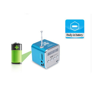 Image 3 - Portable Mini FM Radio Speaker USB MP3 Music Player Sound box Support Micro SD TF AUX with LCD Screen Display for PC Laptop Gift