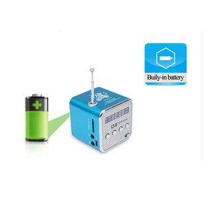 Image 3 - Taşınabilir Mini FM radyo hoparlör USB MP3 müzik çalar ses kutusu desteği Micro SD TF AUX LCD ekran ile PC için dizüstü hediye
