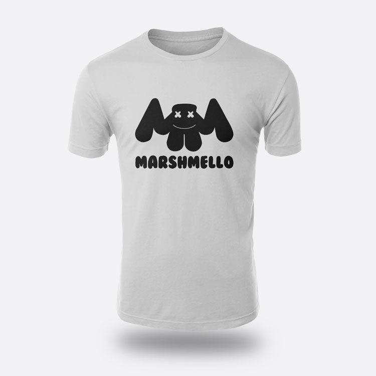 DJmarshmello Remix футболки Для мужчин белый S-3XL футболка 100% хлопковая футболка для Для мужчин печати хлопок Высокое качество Топ Футболка