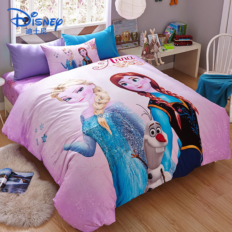 1.5m /1.8m Bed Disney Frozen Childrens Cotton Sheets Quilt Cover Pillowcase Boy Girl Bedding Sets Four-piece Spiderman Cartoon To Be Renowned Both At Home And Abroad For Exquisite Workmanship Bedding Sets Skillful Knitting And Elegant Design Baby Bedding