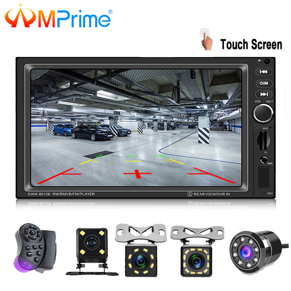 AMPrime 2din 8012B Auto Multimedia-player Stereo Bluetooth Radio Auto audio 7 ''2 DIN Touchscreen Autoradio Mit Hinten view Kamera