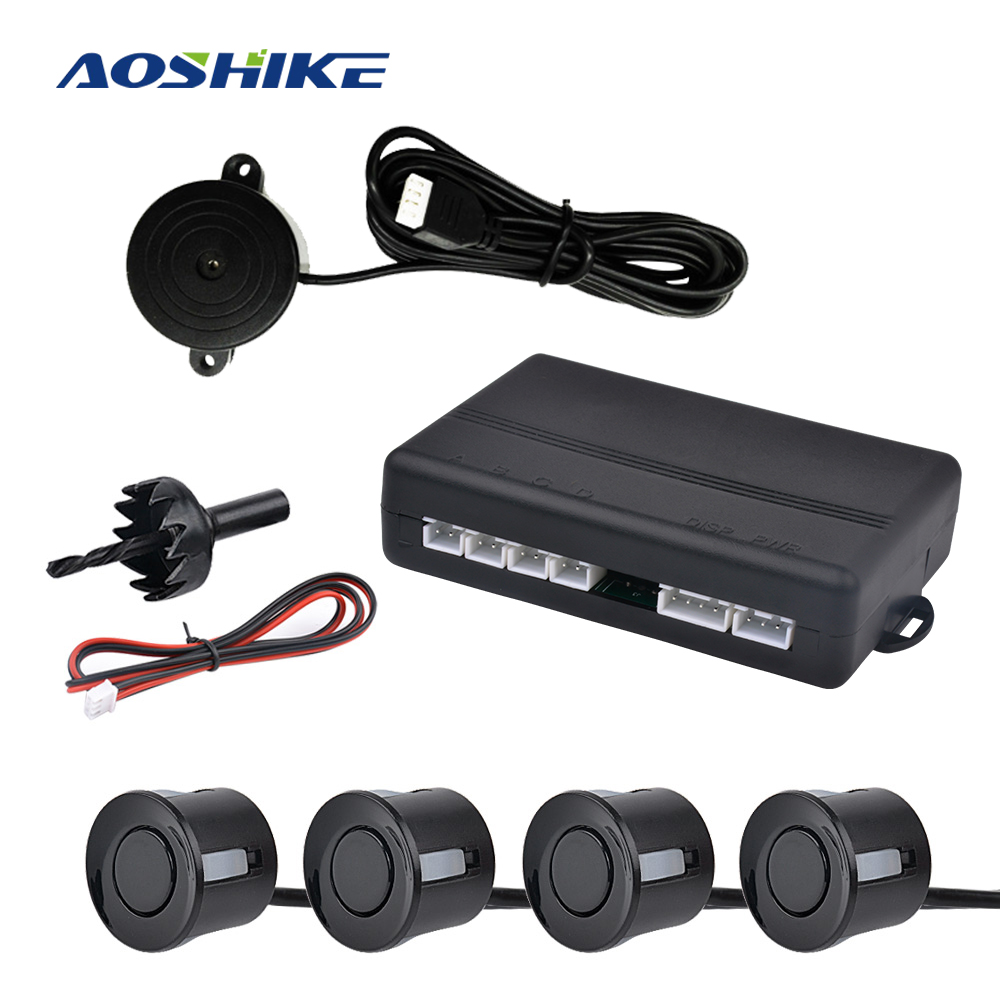 Aoshike Auto umkehr radar summer mit 4 Sensoren Reverse Backup Parkplatz Radar-Monitor Detektor System EU
