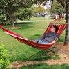 Portable Canvas Fabric Single Person Outdoor Furniture Hammock Double Spreader Bar Hammock Outdoor Camping Swing Hanging