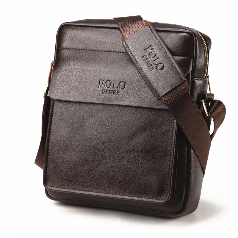 Men/'s POLO Fanke Shoulder Messenger Bag Pu Leather Handbag Briefcase Business