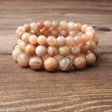 Linxiang Fashion Jewelry 4/6/8/10/12MM Solar Stone Bracelet Suits Charming Amulets for Men and Women
