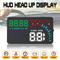 4 Inch Car Hud Head Up Display OBD2 or EUOBD speed, voltage Display Interface Overspeed Warning Automobile Windshied Project