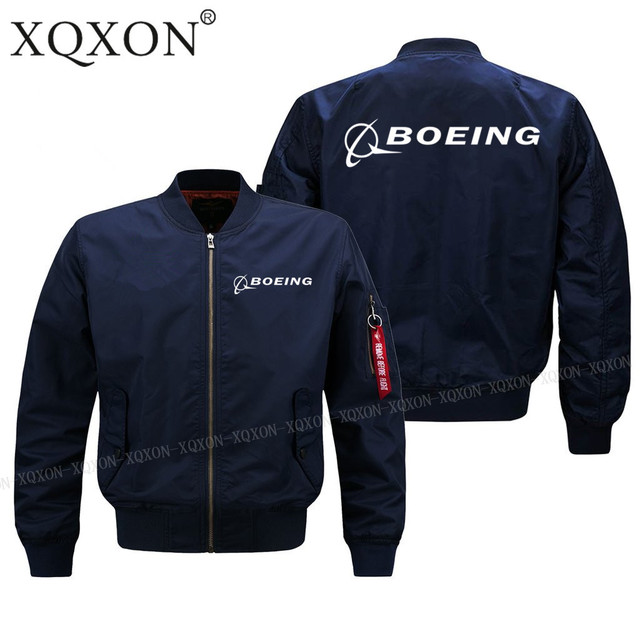XQXON-men pilot jacket Spring fall winter clothes BOEING AEROPLANE LOGO man Coats Jackets (Customizable) J64