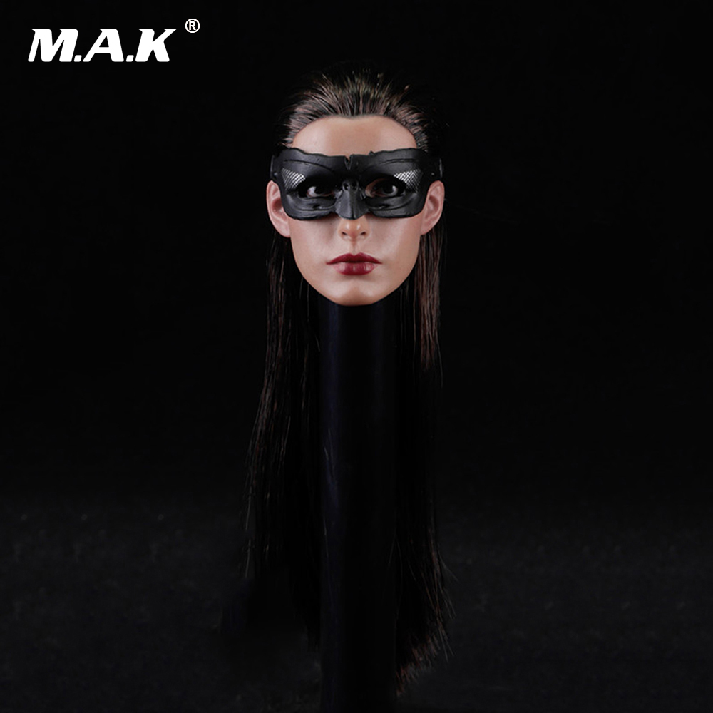 1/6 Scale Batman Catwoman Anne Hathaway Head Sculpt with eyemask for 12 Inches Female Action Figures Bodies 1 6 scale takeshi kaneshiro mens head sculpt for 12 inches male action figures bodies