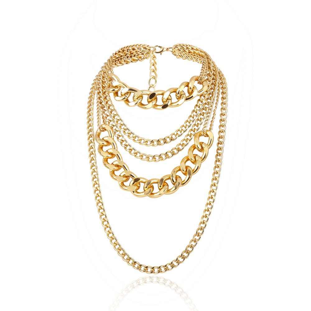 Ingemark, этническое кубинское колье, ожерелье, воротник, женское, мужское, ювелирное изделие, многослойное, алюминиевое, толстое, на цепочке, массивное ожерелье, стимпанк, для мужчин
