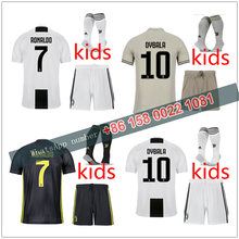 JUVENTUSES 2019 2018 kids boy kits RONALDO Soccer Jerseys kit 18 19 JUVE kit  +socks Dybala Home Away Third Football Shirt 70ac160e9