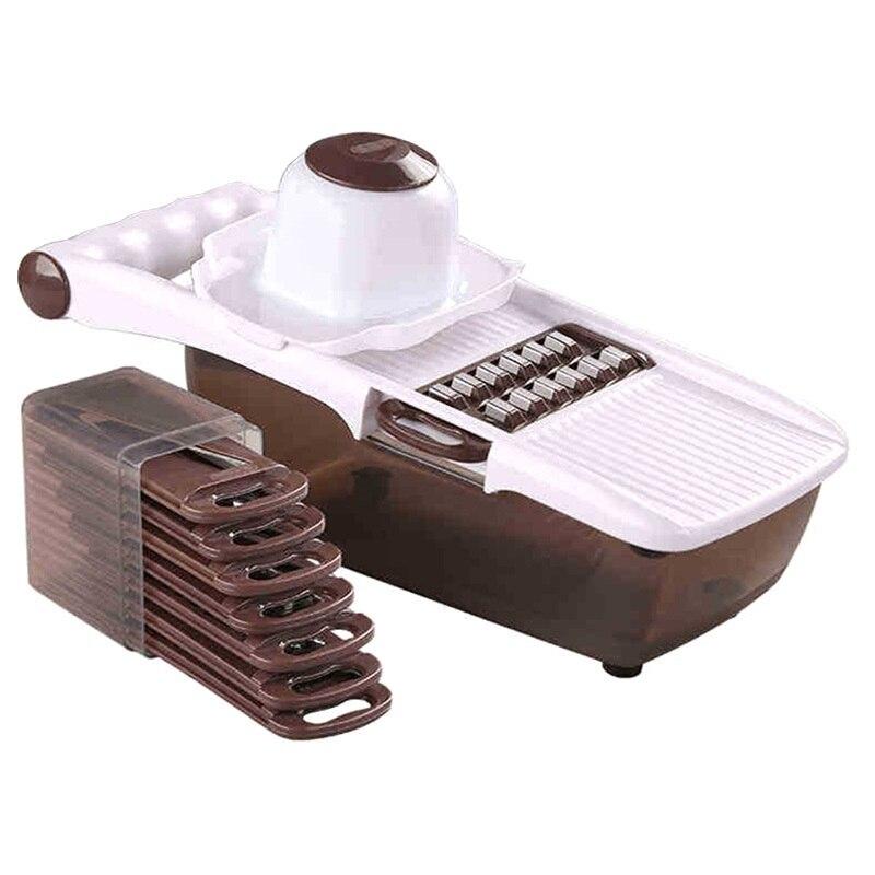 多機能マンドリンスライサー野菜カッターステンレス鋼の刃にんじんおろし器キッチンツールマニュアルダイサー