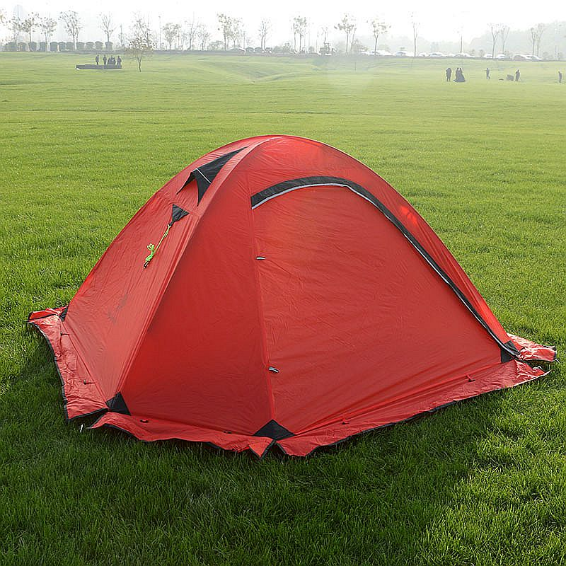 Hillman 20D Silicone Fabric Ultralight 2 Person Camping Tent With Snow Skirt Double Layers Aluminum Rod Hiking Tent 4 Season good quality flytop double layer 2 person 4 season aluminum rod outdoor camping tent topwind 2 plus with snow skirt
