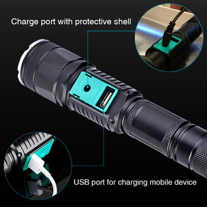 Image 4 - military police use flashlight waterproof T6 long range rechargeable LED light riding hunting torch tactical flashlight 18650