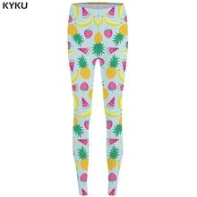 KYKU Brand Fruit Leggings Watermelon Leggins fitness Banana 3d pants Pineapple Legging Strawberry Sexy  Stretch Pants