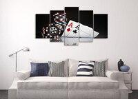 HD Impresso Pintura Da Lona de Impressão de Poker Room Decor Impressão Imagem do Cartaz Da Lona Frete Grátis