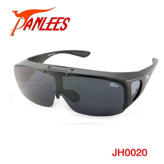 Polarized Fit over Sunglasses Flip up Matt black  Frame Fishing Sunglasses Free Shipping