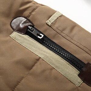 Image 4 - Abrigos de invierno de diseño superior para hombre, chaqueta acolchada de plumón de pato blanco, chaquetas informales con capucha de marca, envío gratis