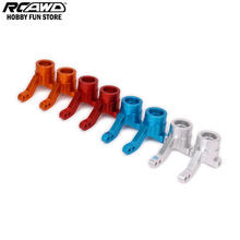RCAWD Front Steering Hub Carrier Knuckle For Rc Hobby Car 1/10 HPI WR8 Series Flux 101208 WR80001 Machined CNC Alloy Aluminum