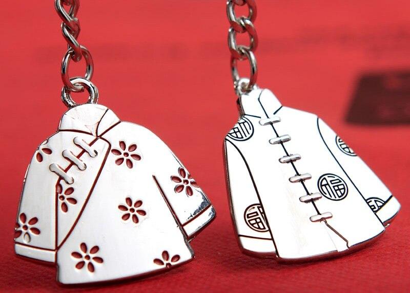 Liga retro chinês roupas traje chaveiros amantes casal criativo chave  publicidade anel de aniversário de casamento presente da lembrança chaveiro  em Favores ... c4097ea0b5fba