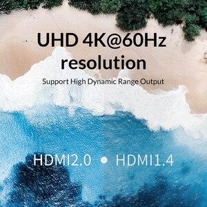 Image 4 - Unnlink Divisor HDMI 1X2 1X4 HDMI2.0 UHD 4K @ 60HZ 18Gbps 4:4:4 HDR HDCP 2,2 3D para amplificador de proyector LED Dispositivo de tv inteligente ps4