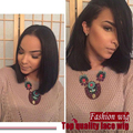 wholesale Synthetic Full Lace Front Bob Wig/ short wigs no Bangs Heat Resistant Free part Glueless lace Wigs for black women