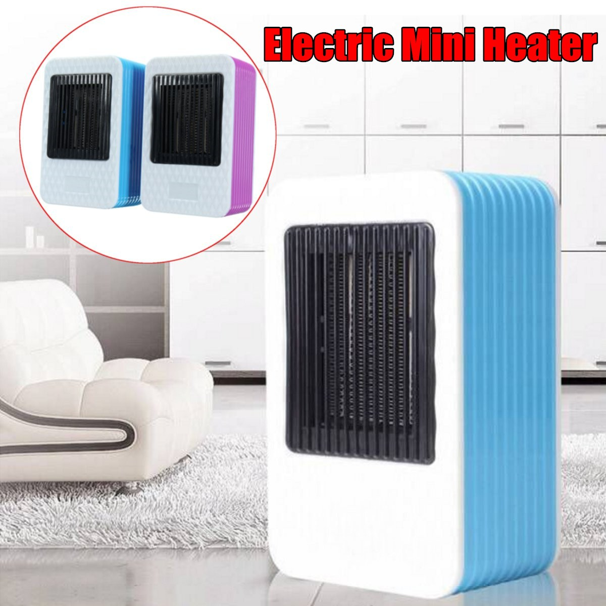 220V AC 500W Powerful Warm Blower Portable Mini Fast Heater Electric Air Heater Fan Stove Radiator Room Warmer warm air blower heating elements fan heater electric heat pipe warming air machine tubular element unit heater parts