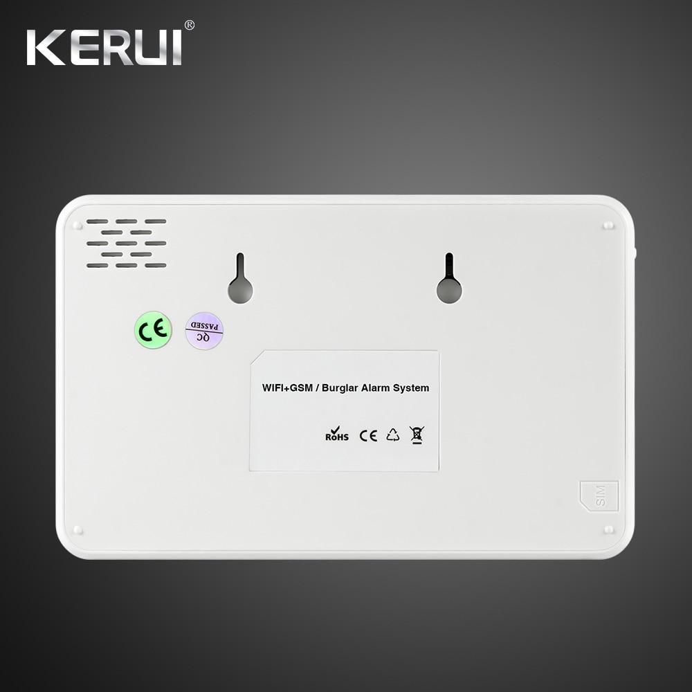 Kerui W18 Wireless Wifi GSM IOS Android APP Control LCD GSM SMS Home Burglar Alarm System Pet Immune PIR Detector Pet Movement 1
