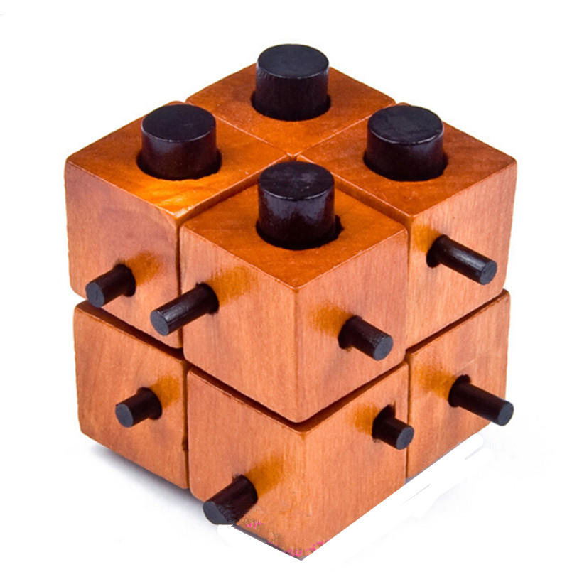 Classic IQ Mind Wooden Magic Box Lock Puzzle Game for Adults Children,IQ Mind Brain Teaser 3D Puzzles Educational Toys for Kids