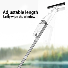 Window Cleaning Brush with Water Spray Long Handle Double Side Wipe Silicone Large Wiper Scraper Tool