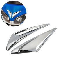 Pair Chrome Windshield Garnish Vent Accents For Honda GL1800 Goldwing 12 later