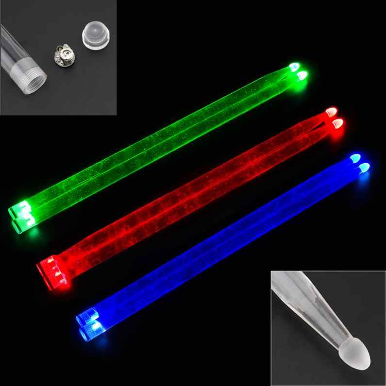 5A//7A Drum Sticks Glow In The Dark Stage Percussion Band Musical Instrument DIY